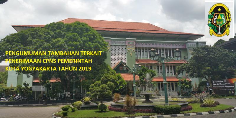 Informasi Perpanjangan Batas Waktu Pendaftaran Seleksi CPNS Pemerintah Kota Yogyakarta Tahun 2019